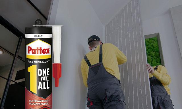 Montaż przy użyciu klejów montażowych Pattex One For All